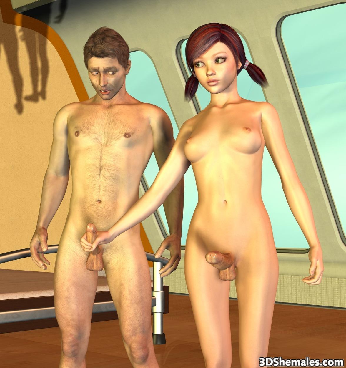 3dshemales naked scene